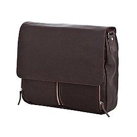 Dermata Umhängetasche aus Leder mit Notebookfach 40 cm Produktbild