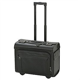 d&n Business & Travel Pilotenkoffer aus Leder auf Rollen Produktbild