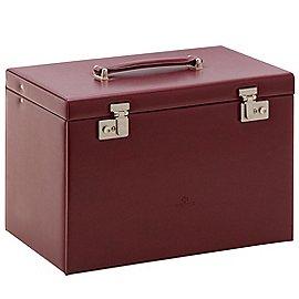 Windrose Merino Schmuckkoffer 6 Etagen mit integrierter Schmucktasche 37 cm Produktbild