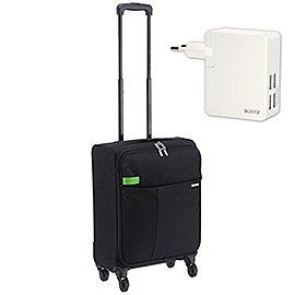 Leitz Complete Smart Traveller 4-Rollen-Handgepäcktrolley 55 cm inkl. 4x USB Ladegerät Produktbild