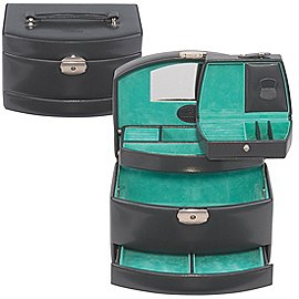 Windrose Merino Automatik-Schmuckkoffer mit Einsatz 23 cm Produktbild