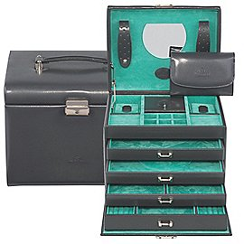 Windrose Merino Schmuckkoffer mit Schmucktasche 26 cm Produktbild