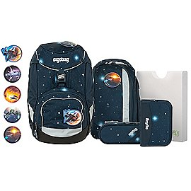 ergobag pack Galaxy Glow Schulrucksack-Set 6-tlg. 35 cm Produktbild