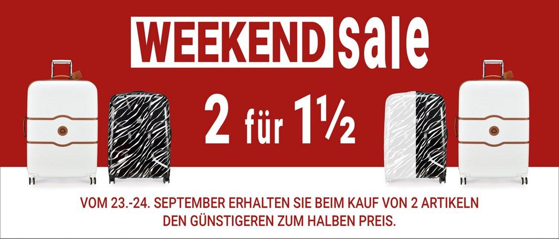 Nur an diesem Wochenende erhalten Sie beim Kauf ab 2 Artikeln den Günstigsten für die Hälfte!