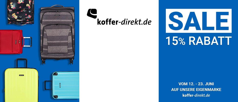 15% Rabatt auf alle Artikel der Marke koffer-direkt.de